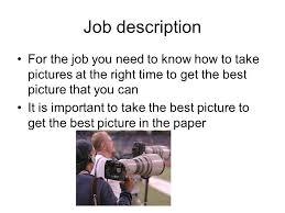 Sports Photography Alex Bierworth Job Description For The
