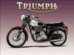 triumph motorbike metal wall sign 3 sizes