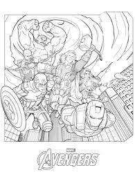 Sensational Design Ideas Marvel Coloring Page Avengers Free