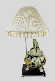 vintage oriental table lamp porcelain foo dog footed vase repurposed 1 of 5