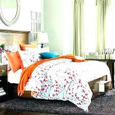 burnt nge comforter set king size sets duvet and brown cover orange blue single awesome co orange and blue bedding
