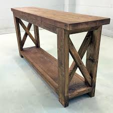 wooden console table. Wooden Farmhouse Console Table