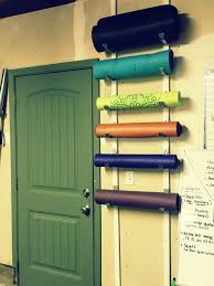 Diy Yoga Mat And Foam Roller Holder For Home Gym Each Set Of
