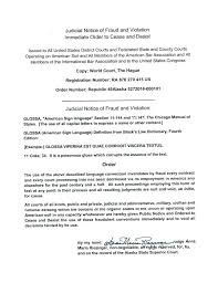 judicial notice of fraud and violation imate order to cease desist letter template harment defamation california