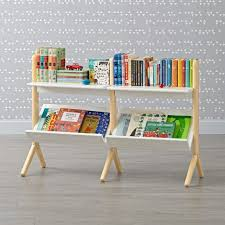 danish modern white natural wide bookcase kids playroom furniture childrens table and chairs teen rage wall system older child ideas princess infant unique