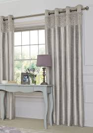 silver sequin banded eyelet curtains from the next uk