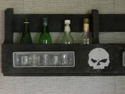 pallet liquor rack. Contemporary Rack Pallet Liquor Rack With Shot Glass Display  Harley Davidson Motif And I