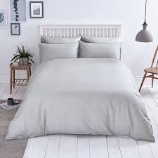 close image for sainsbury s home soft grey plain bed linen from sainsbury s