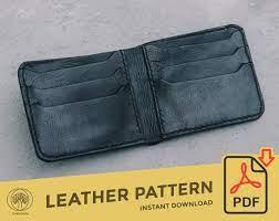 bifold leather wallet template pattern