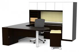 unique office desks. Simple Office Desks Unique L Round Table Shaped Brown With White Desk Cabinet Solution
