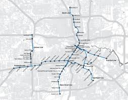Houston Proposed Light Rail Map Pin By Adjacent Cow On Maps Light Rail Train Map Houston