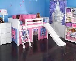 appealing kids low loft bed playhouse low loft bed w slide maxtrix kids hot pinkblue on