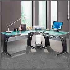 glass desks for office. Interior Impressive Glass L Shaped Office Desk 32 With Designs 6 Desks For