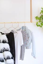 DIY hanging clothes rail