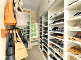 shoe and bag storage walk in closet with storage for shoes and handbags traditional closet ikea