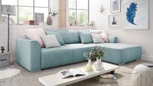 Ecksofa Lazy Wohnlandschaft Mit Schlaffunktion Aqua Blau