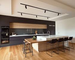 Mid-sized modern galley kitchen idea in Melbourne with an undermount sink,  flat-