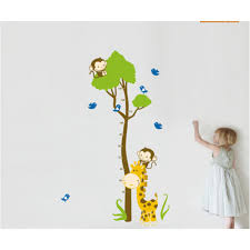 lovely cartoon giraffe wall decal wall art decals vinyl wall stickers by wallstickerscool com au