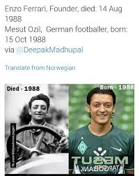 Looking at their portraits, you could be forgiven for thinking they're twin brothers. Sai Krishna On Twitter Mesutozil1088 Are You The Reincarnation Of Enzo Ferrari Https T Co Hybzwre0iq