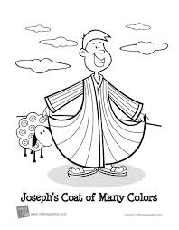 Joseph And The Coat Of Many Colors Coloring Page Dapmalaysiainfo