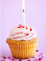 Cupcake With Candle Happy Birthday