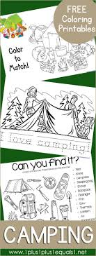 Free Camping Coloring Printables Coloring Activities