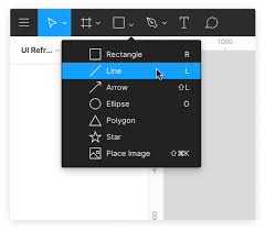 If you've already drawn the line, just click on it for further editing. Using Shape Tools Figma