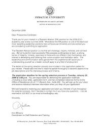 Resume Cover Letter University Academic Advisor Cover Letter