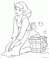 Coloring Pages Cinderella Coloring Pages Online With Princess Free