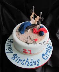 I Need This For Billys Birthday Gym Themed Cakes Pastel De