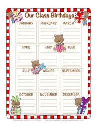 Teddy Bear Chart Teddy Bear Birthday Chart