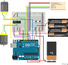 arduino uno safe to control multiple power sources through a fritzing wiring diagram of circuit 9 volt and 6 volt grounds wired to same switch
