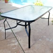glass patio table tempered winter storage