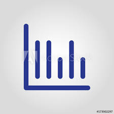 Data Chart Icon Isolated Flat Linear Data Chart Or Statistic Button Icon For