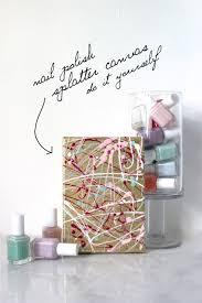 wet paint diy nail polish splatter paint canvas