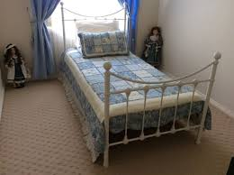 white metal furniture. Single White Metal Bed Complete As In Photo Furniture