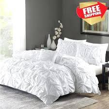 white duvet comforter ruched bedding set king size bed duvet cover shams 4 piece twist inside white duvet