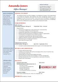 resume objectives for managers office manager resume examples 2017