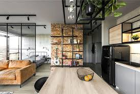 apartment interior design. Contemporary Interior Is This Charming Small Apartment In A Former Industrial District That  Preserves Its Heritage Under The Original And Stylish Read Of Contemporary Design Intended Apartment Interior Design T
