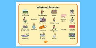 Activities Word Weekend Activities Word Mat What I Do At The Weekend Weekend