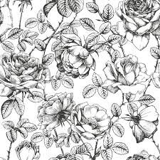 black and white floral wallpaper pattern. Unique And Black And White Floral Wallpaper Anewallcom In And Pattern I