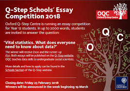 q step schools essay competition schools