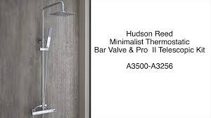 hudson reed minimalist thermostatic valve pro ii telescopic shower kit