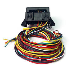 12v 24 circuit 15 fuse street hot rat rod wiring harness wire kit 12v 10 circuit basic wiring harness fuse street hot rat rod wiring box car us