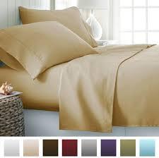 beckham hotel collection luxury soft brushed microfiber bed sheet set deep pocket california king gold bll 4pc calking gold