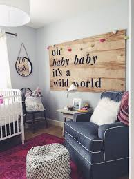wooden baby nursery rustic furniture ideas. Winnie Wilde\u0027s Nursery - Bright, Ecclectic, Whimsical DIY Wood Sign Wooden Baby Rustic Furniture Ideas