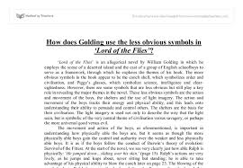 lord of the flies essay on savagery lord of the flies civilization vs savagery essay example for