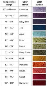 Color Chart For 2016 Temperature Blanket Using Loops