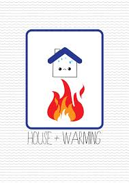 A house warming party invitation.