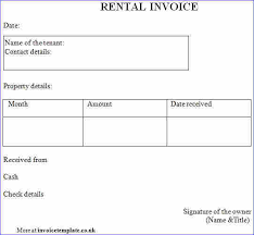 Rent Invoice Template Inspiration Rental Invoice Template Denryoku